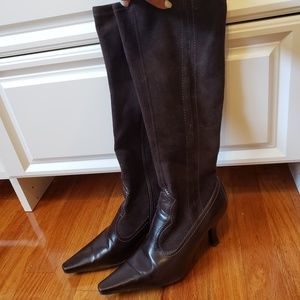 Franco Sarto woman's brown leather & suede boots